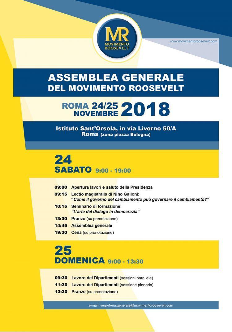 Assemblea Generale 24 25 novembre 2018 locandina 8ca3c