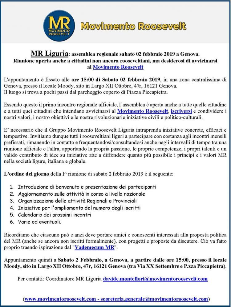 Locandina MR Genova 2 febbraio 2019
