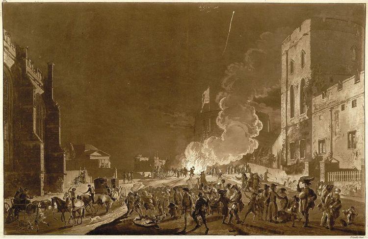 Windsor castle guy fawkes night 1776