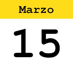 15 MARZO